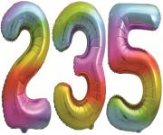 Цифры Яркая радуга