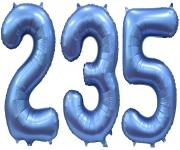 Цифры синие, сатин