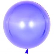 Шар (18''/46 см) Сфера 3D, Deco Bubble, Сиреневый, Кристалл, 1 шт.