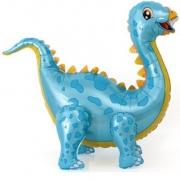 Шар (39''/99 см) Ходячая Фигура, Динозавр Стегозавр, Голубой, 1 шт.