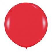Большой шар (30''/75 см) Красный, пастель, 1 шт.