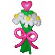 Букет из 7 цветков (6 ромашек, 1 сердце)