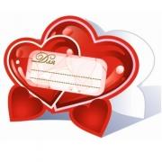 Банкетные карточки для стола, Сердца, 20 шт.