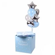 """Коробка с шарами """"С днем рождения !"""""""