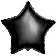 Шар (21''/53 см) Звезда, Черный, 1 шт.