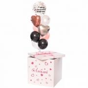"""Коробка с шарами """"Коробка сердец"""""""