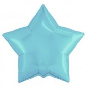 Шар (21''/53 см) Звезда, Нежно-голубой, 1 шт.