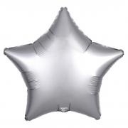 Шар (21''/53 см) Звезда, Платина, Сатин, 1 шт.