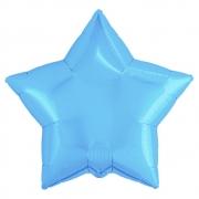 Шар (21''/53 см) Звезда, Холодно-голубой, 1 шт.