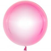 Шар (18''/46 см) Сфера 3D, Deco Bubble, Розовый, Кристалл, 1 шт.