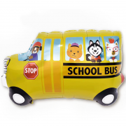 Шар (33''/84 см) Фигура, Школьный автобус, 1 шт.