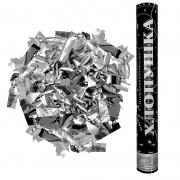 Пневмохлопушка (16''/40 см) Металлизированное конфетти, Серебро, 1 шт.