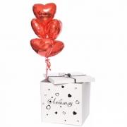 """Коробка с шарами """"Сильная Любовь"""""""