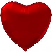 Шар (19''/48 см) Сердце, Красный, 1 шт.