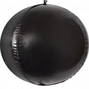 Шар (24''/61 см) Сфера 3D, Черный, 1 шт.