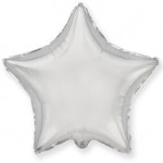 Шар (21''/53 см) Звезда, Серебро, 1 шт.