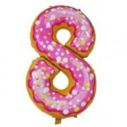 Шар Цифра, 8, Пончик, 1 шт.