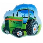Шар (26''/66 см) Фигура, Трактор, Зеленый, 1 шт.