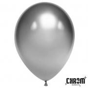 Шар (12''/30 см) Серебро, хром, 1 шт.