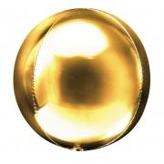 Шар (20''/51 см) Сфера 3D, Золото, 1 шт.