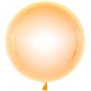 Шар (18''/46 см) Сфера 3D, Deco Bubble, Оранжевый, Кристалл, 1 шт.