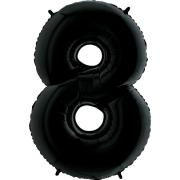 Шар Цифра, 8, Черный, 1 шт.