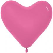 Шар-сердце (16''/41 см) Фуше, пастель, 1 шт.
