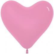 Шар-сердце (16''/41 см) Розовый, пастель, 1 шт.