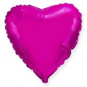 Шар (32''/81 см) Сердце, Пурпурный, 1 шт.