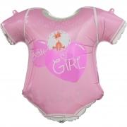 Шар (23''/58 см) Фигура, Боди для малышки девочки, Розовый, 1 шт.