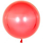 Шар (18''/46 см) Сфера 3D, Deco Bubble, Красный, Кристалл, 1 шт.