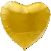 Шар (19''/48 см) Сердце, Золото, 1 шт.