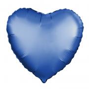 Шар (19''/48 см) Сердце, Лазурь, Сатин, 1 шт.