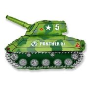 Шар (31''/79 см) Фигура, Танк, Зеленый, 1 шт.