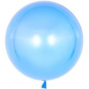 Шар (18''/46 см) Сфера 3D, Deco Bubble, Голубой, Кристалл, 1 шт.