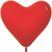 Шар-сердце (16''/41 см) Красный, пастель, 1 шт.