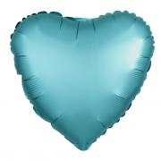 Шар (19''/48 см) Сердце, Тиффани, Сатин, 1 шт.