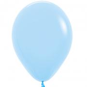Шар (12''/30 см) Макарунс, Нежно-голубой, пастель, 1 шт.
