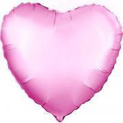 Шар (19''/48 см) Сердце, Розовый, 1 шт.