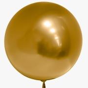 Шар (18''/46 см) Сфера 3D, Deco Bubble, Золото, Хром, 1 шт.