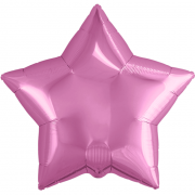 Шар (21''/53 см) Звезда, Розовый, 1 шт.