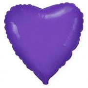 Шар (32''/81 см) Сердце, Фиолетовый, 1 шт.