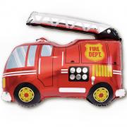 Шар (32''/81 см) Фигура, Пожарная машина, 1 шт.