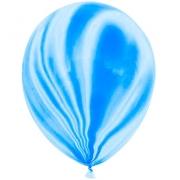 Шар Мрамор (12''/30 см) Синий, агат, 1 шт.