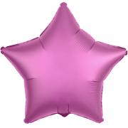 Шар (21''/53 см) Звезда, Гранатовый светлый, Сатин, 1 шт.