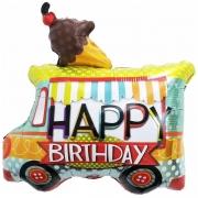 Шар (23''/58 см) Фигура, Фургон мороженщика, С Днем Рождения, 1 шт.