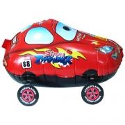 Шар (24''/61 см) Ходячая Фигура, Гоночная машинка, Красный, 1 шт.
