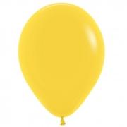 Шар (12''/30 см) Желтый, пастель, 1 шт.