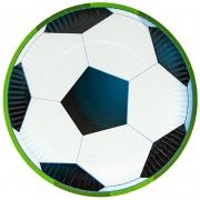 Тарелки (9''/23 см) Футбольный мяч, 6 шт.