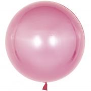 Шар (18''/46 см) Сфера 3D, Deco Bubble, Розовое Золото, Хром, 1 шт.